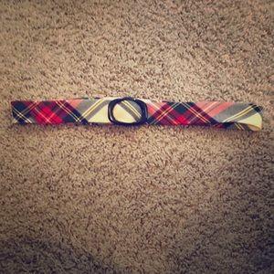 Plaid J. Crew winter wool belt